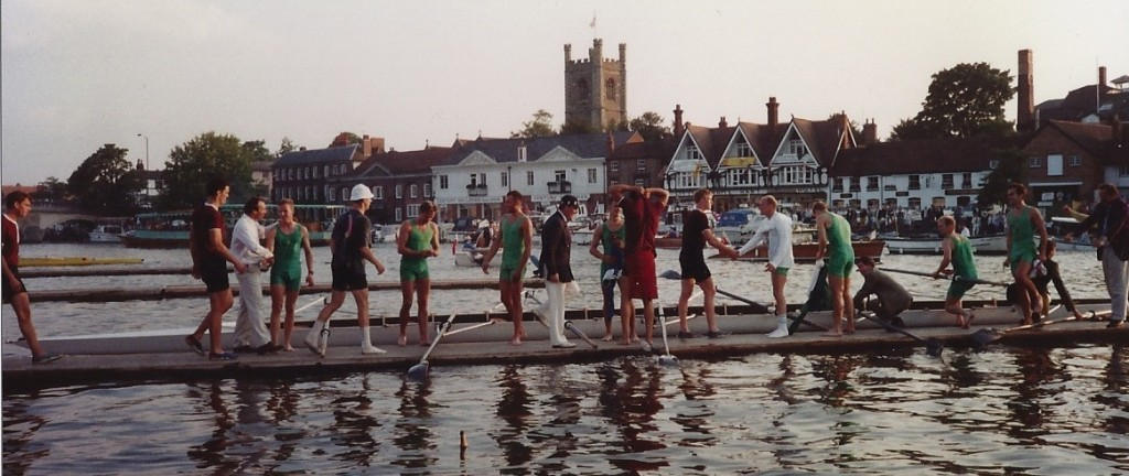 Henley Royal Regatta - After the rerow of the Ladies Plate final. Photo: Ian Volans